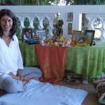 Krishna Puja at Peaceful Ocean View on the balcony