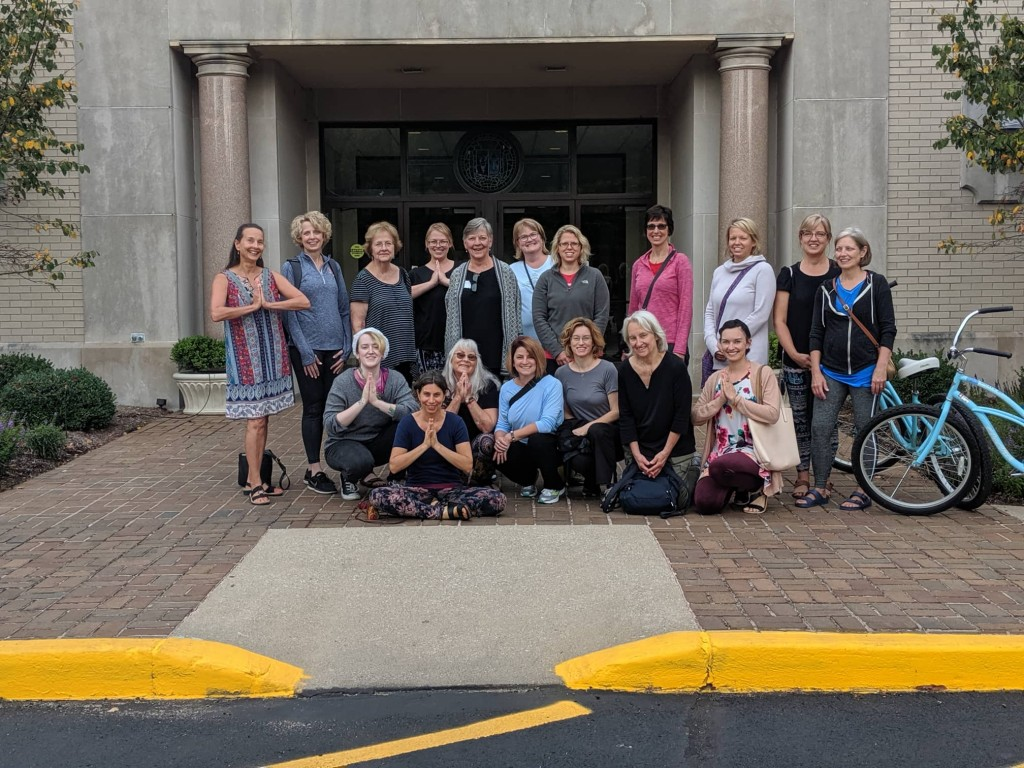 Group in front of Entrance of Sisters of Providence